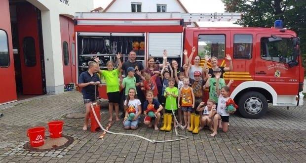 Sommerferienprogramm bei der Feuerwehr Riedheim