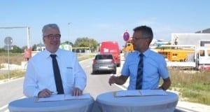 Unterzeichnung Zweckvereinbarung Gewerbegebiet Nersingen-NU