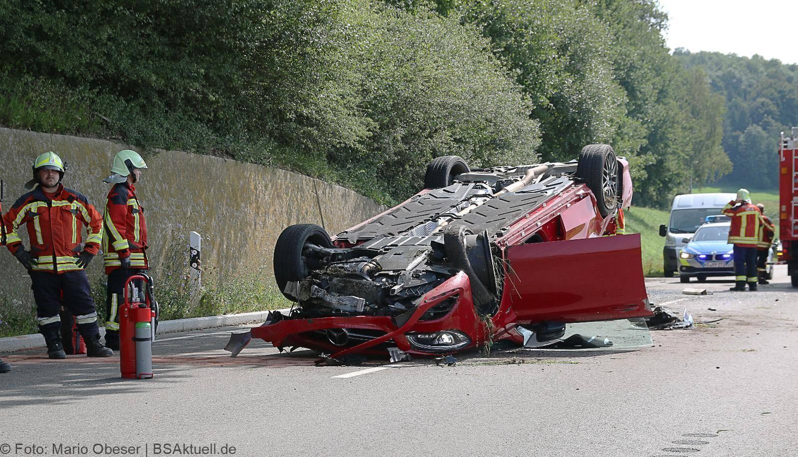 Verkehrsunfall auf der St2025 Konzenberg Haldenwang