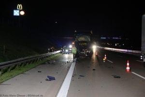 A8 Burgau Auffahrunfall LKW Gefahrgut 20082017 3