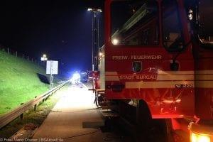 A8 Burgau Auffahrunfall LKW Gefahrgut 20082017 4