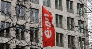 EON-Zentrale - Fahne