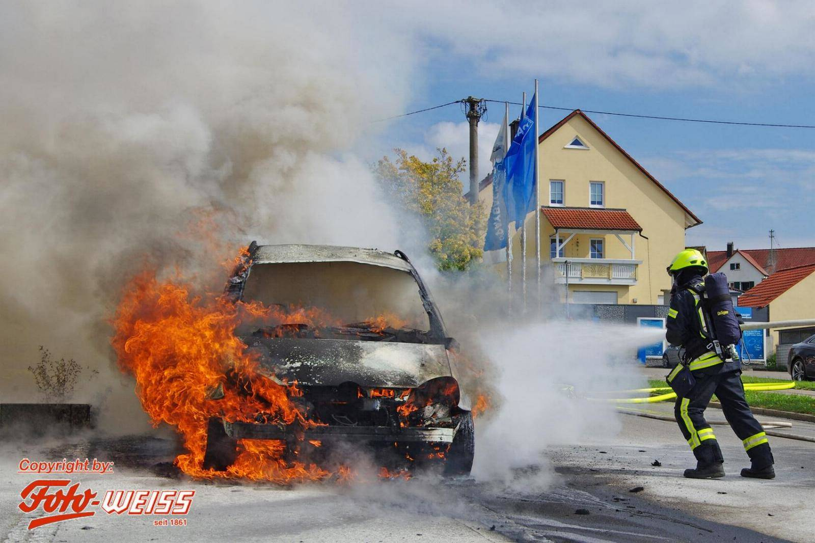 PKW-Brand in Krumbach