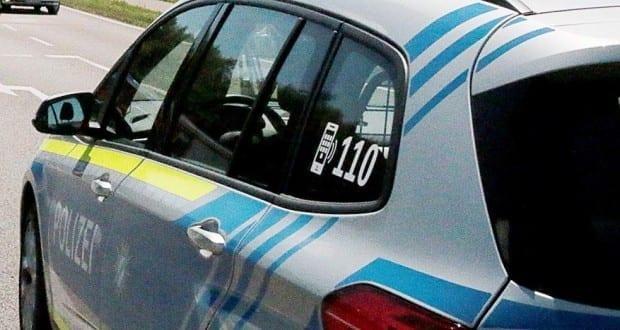 Polizeifahrzeug blau Polizei