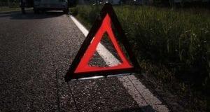Warndreieck Unfall Polizei Nacht
