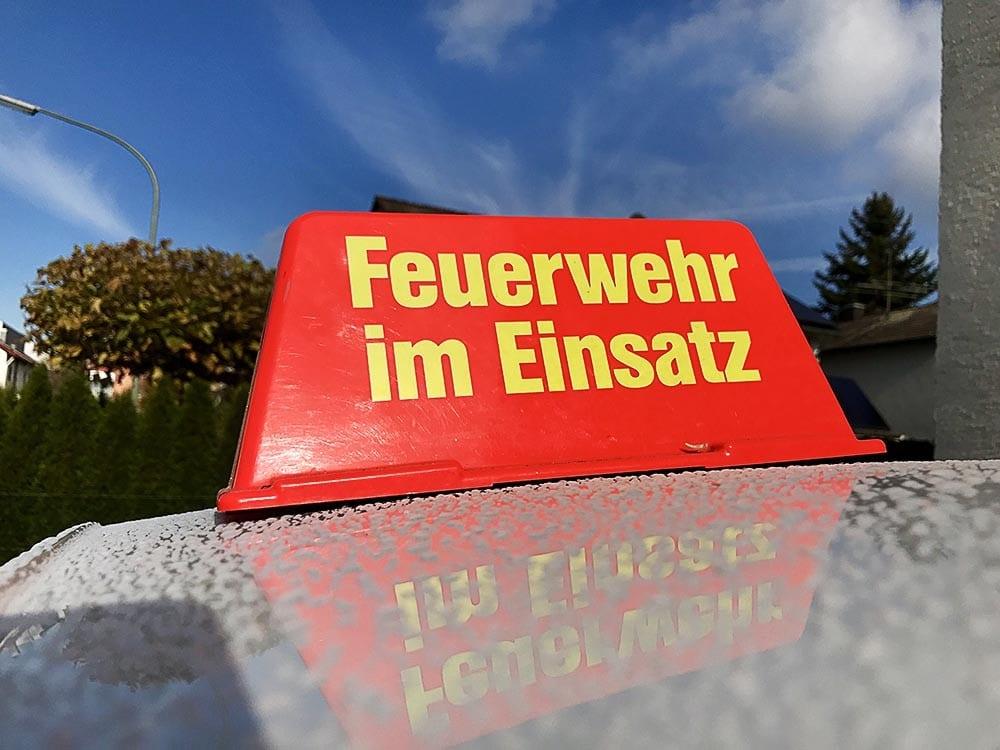 Dachaufsetzer Feuerwehr im Einsatz