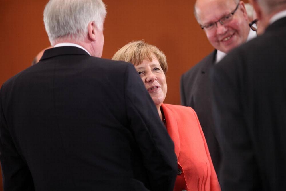 Horst Seehofer Angela Merkel und Peter Altmaier