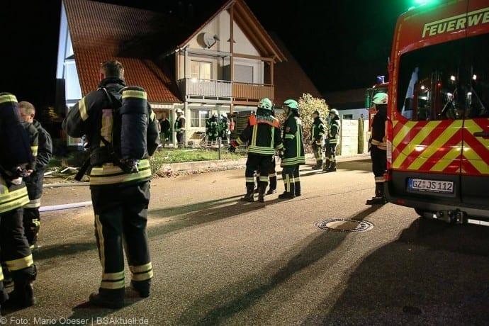 Brand im Keller eines Wohnhauses in Jettingen am 07.10.2017