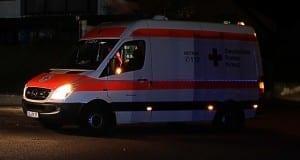 Rettungswagen DRK Nacht