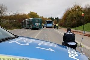 Unfall Gelenkbusse Linienbus Ulm 30102017 11