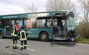 Unfall Gelenkbusse Linienbus Ulm 30102017 15