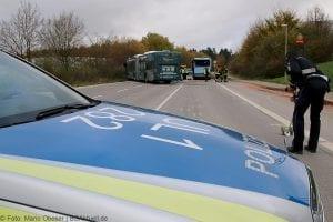 Unfall Gelenkbusse Linienbus Ulm 30102017 2
