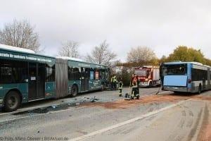 Unfall Gelenkbusse Linienbus Ulm 30102017 5