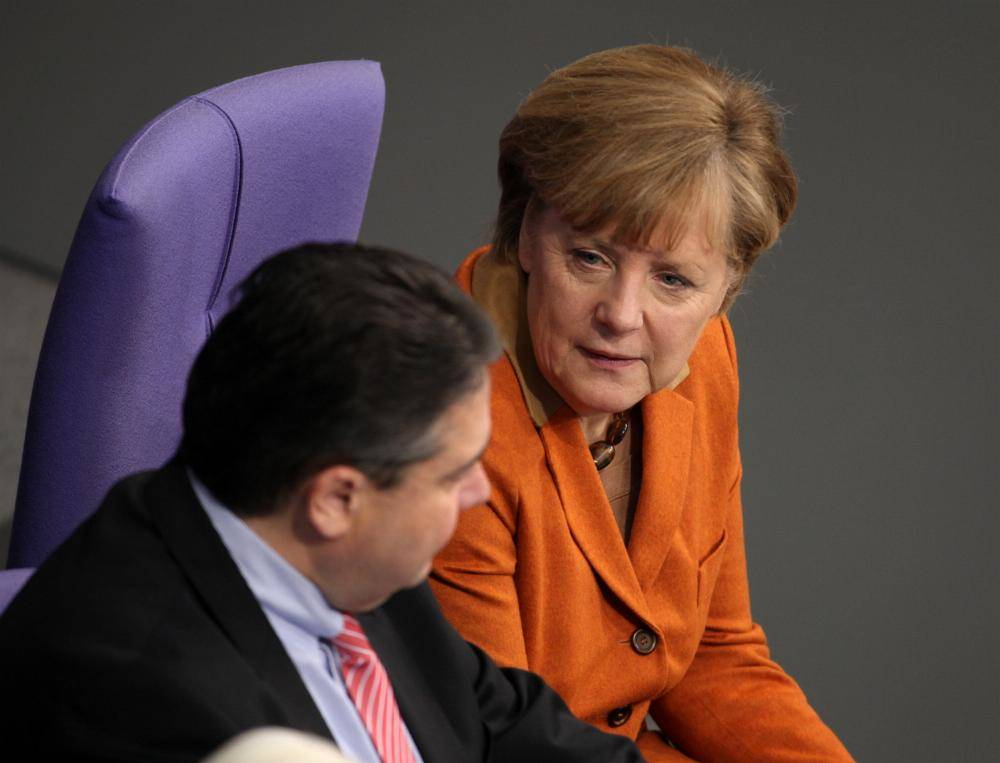 Angela Merkel und Sigmar Gabriel