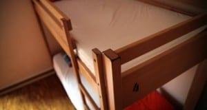 Doppelstockbett in einer Jugendherberge