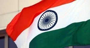 Fahne von Indien