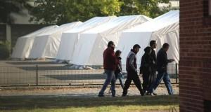 Flüchtlinge Zeltstadt