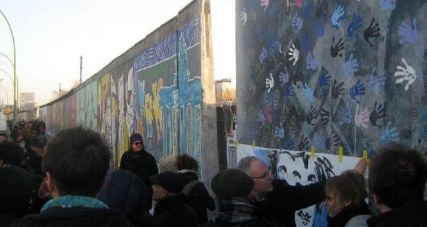 Proteste an der East Side Gallery