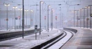 Winter bei der Deutschen Bahn