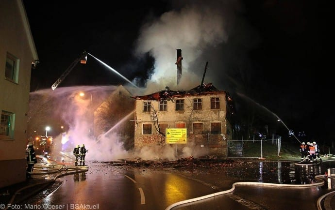 Langenhaslach Brand ehemalige Gaststätte Adler