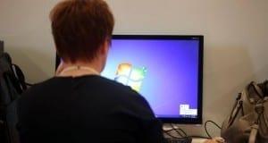 Computer-Nutzerin