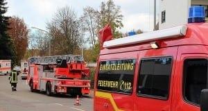 Feuerwehr Günzburg Drehleiter Rettunggswagen