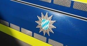 Polizeifahrzeug Wappen blau