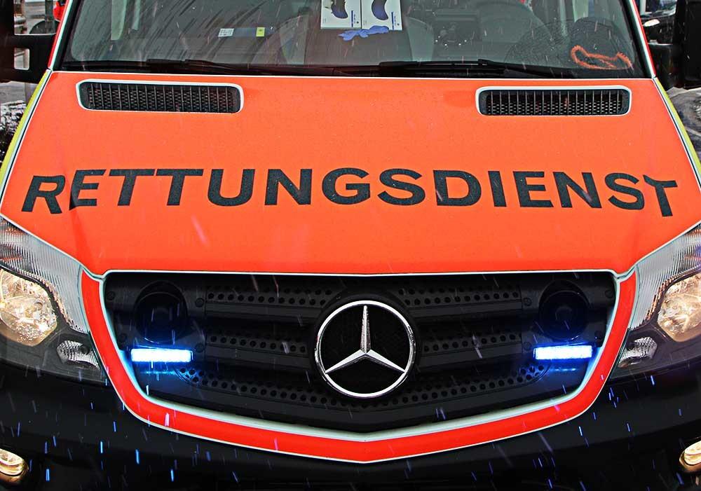 Rettungswagen mit Blitzer