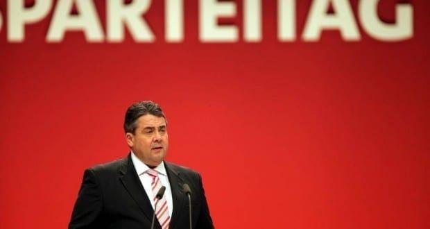 Sigmar Gabriel auf dem SPD-Parteitag in Leipzig am 14.11.2013