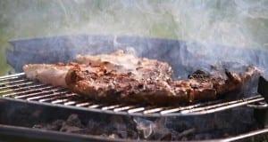 Steak auf einem Grill