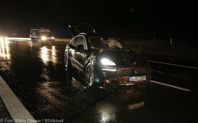 Unfall Porsche A8 bei GZ 16012018 1