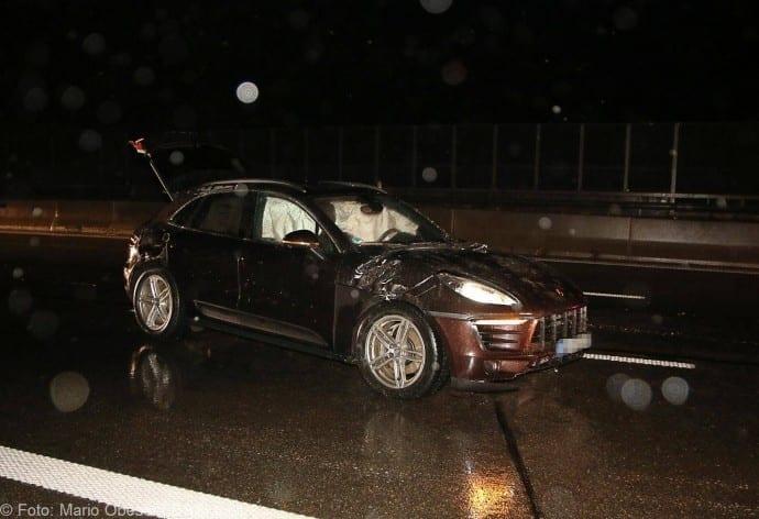 Unfall Porsche A8 bei GZ 16012018 2