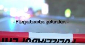 Absperrung Bombe