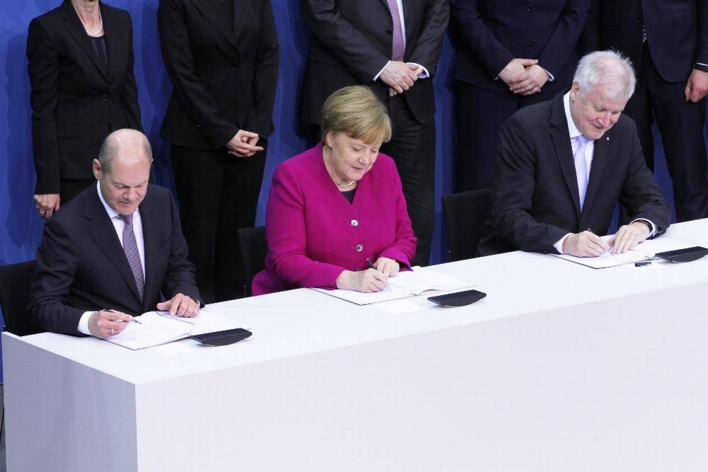 Koalitionsvertrag wird unterschrieben am 12.03.2018