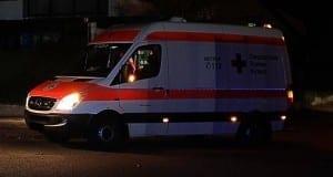 Rettungsdienst Rettungswagen-DRK-Nacht