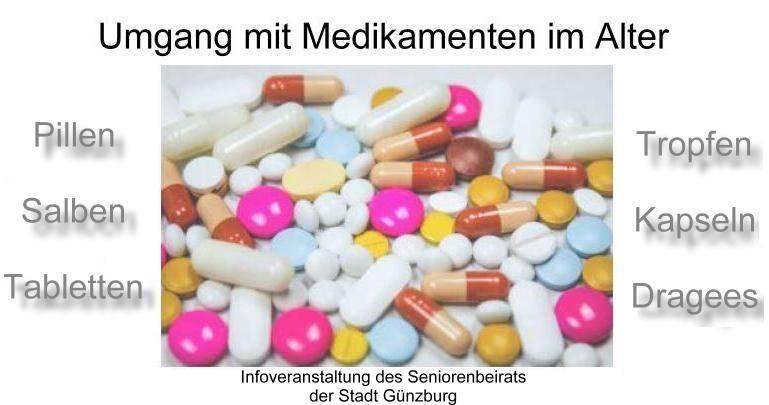 Seniorenbeirat Günzburg - Medikamante im Alter