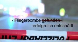 Absperrung-Bombe entschärft