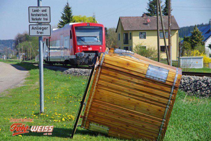 Bahnunfall Alesthausen 18042018 Bahnuebergang 1