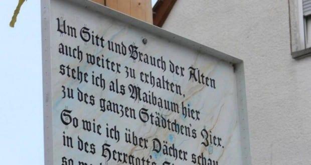 Maibaum Spruch Leipheim