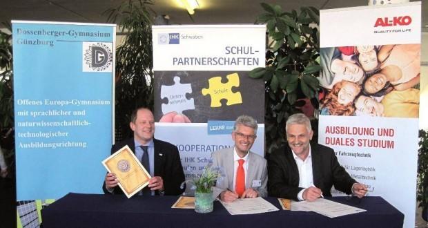 Schulpartnerschaft AL-KO und Dossenberger Guenzburg