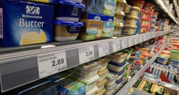 Butter in einem Supermarkt