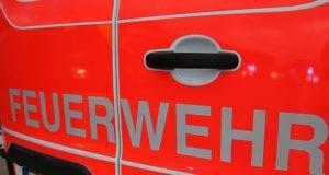 Feuerwehrfahrzeug Schriftzug