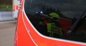 Feuerwehrfahrzeug Zusmarshausen Spiegeleffekt