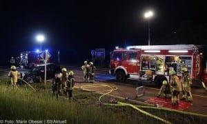 Kreis Günzburg - schwerer Verkehrsunfall B16 bei Ellzee