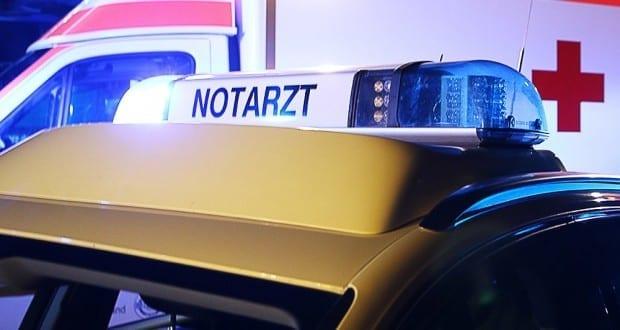Notarzt und Rettungswagen Blaulicht