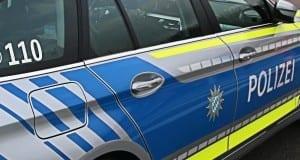 Polizeifahrzeug seitlich