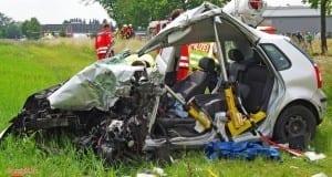 Unfall B16 Ellzee Pkw gegen Lkw 23052018 3