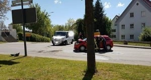 Unfall Paketfahrzeug Deisenhausen
