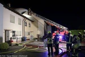 Brand Günzburg Dachstuhlbrand Blitzschlag 06062018 13