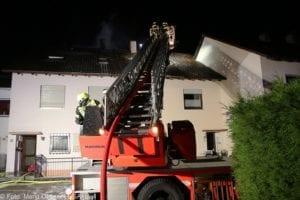 Brand Günzburg Dachstuhlbrand Blitzschlag 06062018 16